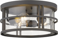Z-Lite 570F-ORB Jordan Contemporary Oil Rubbed Bronze Outdoor Flush Ceiling Light Fixture