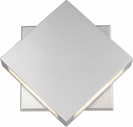 Z-Lite 572B-SL-LED Quadrate Contemporary Silver LED Outdoor 11 Wall Lighting Fixture
