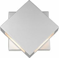 Z-Lite 572S-SL-LED Quadrate Contemporary Silver LED Outdoor 9 Wall Sconce Light