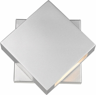 Z-Lite 573S-SL-LED Quadrate Contemporary Silver LED Outdoor 9 Sconce Lighting