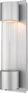 Z-Lite 575S-SL-LED Striate Contemporary Silver LED Outdoor 17 Wall Light Sconce