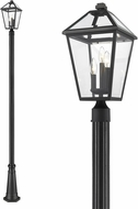 Z-Lite 579PHBR-519P-BK Talbot Traditional Black Exterior Post Lighting
