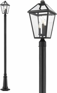 Z-Lite 579PHBR-557P-BK Talbot Traditional Black Exterior Lamp Post Light
