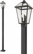 Z-Lite 579PHBS-536P-BK Talbot Traditional Black Exterior Lighting Post Light