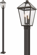 Z-Lite 579PHBS-536P-ORB Talbot Traditional Rubbed Bronze Outdoor Post Light Fixture