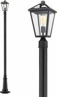 Z-Lite 579PHMR-557P-BK Talbot Traditional Black Exterior Post Light Fixture