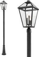 Z-Lite 579PHXLR-519P-BK Talbot Traditional Black Exterior Lamp Post Light