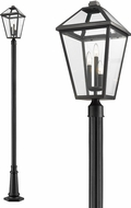 Z-Lite 579PHXLR-557P-BK Talbot Traditional Black Exterior Lighting Post Light