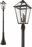 Z-Lite 579PHXLR-564P-ORB Talbot Traditional Rubbed Bronze Outdoor Post Light Fixture