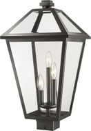 Z-Lite 579PHXLS-BK Talbot Traditional Black Exterior Outdoor Post Mount Fixture