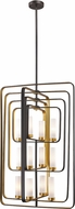 Z-Lite 6000-12-BZGD Aideen Modern Bronze Gold Foyer Light Fixture