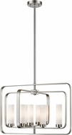 Z-Lite 6000-8A-BN Aideen Modern Brushed Nickel Pendant Hanging Light