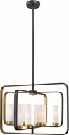 Z-Lite 6000-8A-BZGD Aideen Contemporary Bronze Gold Hanging Light Fixture