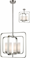 Z-Lite 6000SFC-BN Aideen Contemporary Brushed Nickel Drop Ceiling Light Fixture