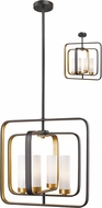 Z-Lite 6000SFC-BZGD Aideen Modern Bronze Gold Drop Lighting Fixture