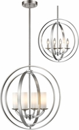 Z-Lite 6002-4S-BN Ashling Modern Brushed Nickel 20  Pendant Light