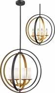 Z-Lite 6002-4S-BZGD Ashling Contemporary Bronze Gold 20  Lighting Pendant