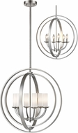 Z-Lite 6002-6L-BN Ashling Modern Brushed Nickel 24  Pendant Lamp