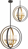 Z-Lite 6002-6L-BZGD Ashling Contemporary Bronze Gold 24  Hanging Lamp