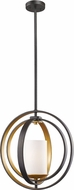 Z-Lite 6002MP-BZGD Ashling Contemporary Bronze Gold Pendant Light Fixture