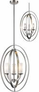 Z-Lite 6004-3S-BN Ashling Modern Brushed Nickel 15  Pendant Lighting Fixture