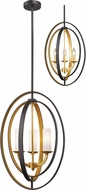 Z-Lite 6004-3S-BZGD Ashling Contemporary Bronze Gold 15  Hanging Pendant Lighting