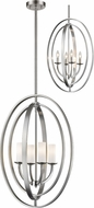 Z-Lite 6004-4L-BN Ashling Modern Brushed Nickel 19  Hanging Pendant Light