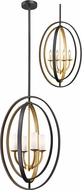 Z-Lite 6004-4L-BZGD Ashling Contemporary Bronze Gold 19  Pendant Hanging Light