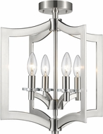 Z-Lite 6008SFC-BN Zander Contemporary Brushed Nickel Flush Mount Lighting Fixture