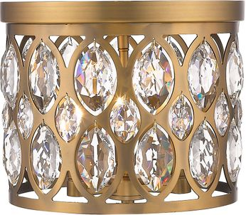 Z-Lite 6010F12HB Dealey Heirloom Brass 12  Ceiling Light