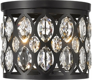 Z-Lite 6010F12MB Dealey Matte Black 11  Ceiling Light