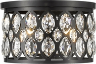 Z-Lite 6010F15MB Dealey Matte Black 15  Ceiling Light Fixture