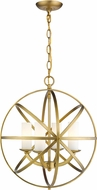 Z-Lite 6017-4S-HB Aranya Modern Heirloom Brass 18  Ceiling Pendant Light