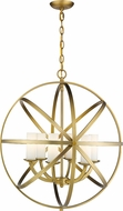 Z-Lite 6017-6L-HB Aranya Contemporary Heirloom Brass 24  Drop Ceiling Light Fixture