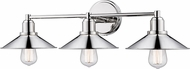 Z-Lite 613-3V-PN Casa Modern Polished Nickel 3-Light Vanity Lighting Fixture