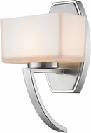 Z-Lite 614-1SBN Cardine Brushed Nickel Matte Opal Halogen Wall Sconce