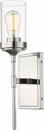 Z-Lite 617-1S-PN Calliope Modern Polished Nickel Lighting Sconce
