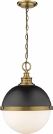 Z-Lite 619P14-MB-FB Peyton Contemporary Matte Black & Factory Bronze Hanging Pendant Lighting