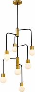 Z-Lite 621-7MB-FB Neutra Modern Matte Black / Foundry Brass Mini Lighting Chandelier
