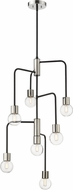 Z-Lite 621-7MB-PN Neutra Contemporary Matte Black / Polished Nickel Mini Chandelier Lamp