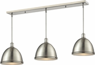 Z-Lite 710P13-3BN Mason Brushed Nickel Brushed Nickel Multi Drop Lighting
