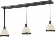 Z-Lite 713MP-3OB Mason Olde Bronze Matte Opal Multi Drop Lighting Fixture