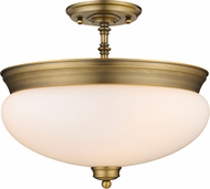 Z-Lite 721SF-HBR Amon Heritage Brass 15  Ceiling Light Fixture