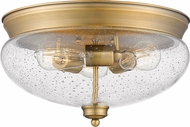 Z-Lite 722F3-HBR Amon Heritage Brass 15  Ceiling Light Fixture