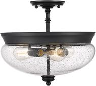 Z-Lite 722SF-MB Amon Modern Matte Black Flush Lighting