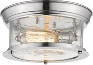 Z-Lite 727F10-CH Sonna Contemporary Chrome Flush Mount Light Fixture