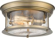 Z-Lite 727F10-HBR Sonna Contemporary Heritage Brass Flush Mount Lighting Fixture