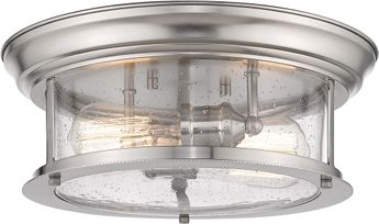 Z-Lite 727F13-BN Sonna Contemporary Brushed Nickel Flush Mount Ceiling Light Fixture