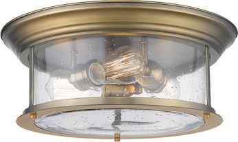 Z-Lite 727F16-HBR Sonna Contemporary Heritage Brass Ceiling Light Fixture