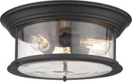 Z-Lite 727F16-MB Sonna Contemporary Matte Black Flush Lighting